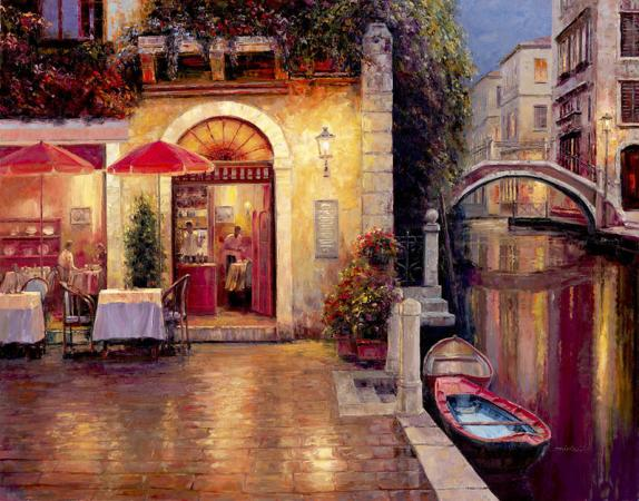 """Night Cafe After Rain"""
